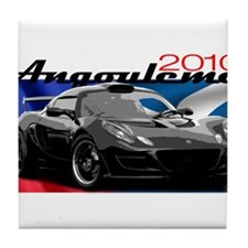 Exige-Black-2010 Tile Coaster