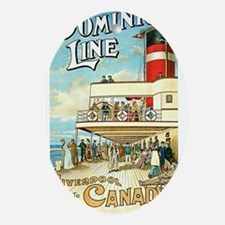 Vintage Liverpool To Canada Ornament (Oval)