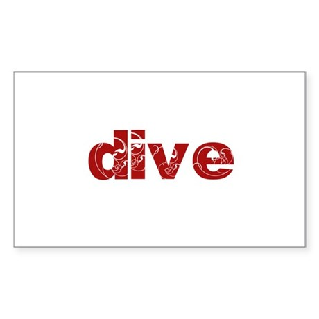 dive Sticker (Rectangle)