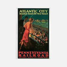 Vintage 1935 Atlantic City NJ Rectangle Magnet