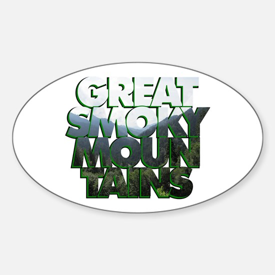 Great Smoky Mountains Sticker (Oval)