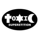 ToXiC Superstition Oval Sticker