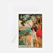 Vintage 1910 Antibes Italy Travel Greeting Card