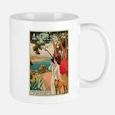 Vintage 1910 Antibes Italy Travel Small Mugs