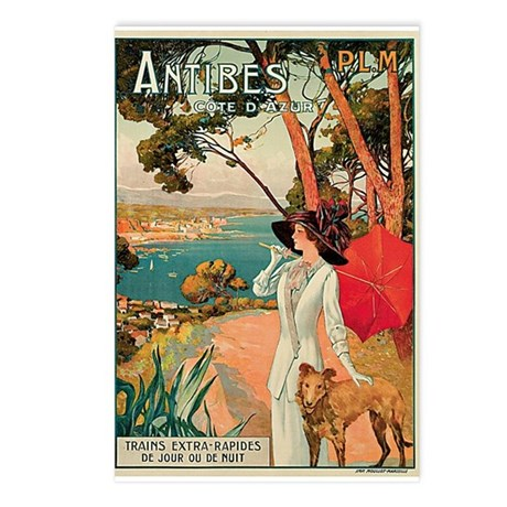 Vintage 1910 Antibes Italy Travel Postcards (Packa