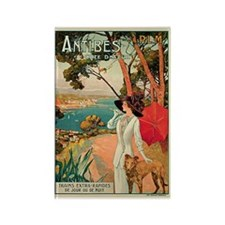 Vintage 1910 Antibes Italy Travel Rectangle Magnet