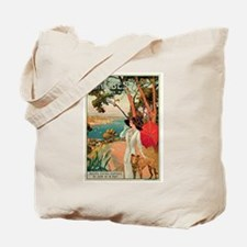 Vintage 1910 Antibes Italy Travel Tote Bag