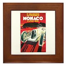 Vintage 1930 Monaco Auto Race Framed Tile