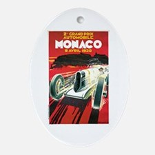 Vintage 1930 Monaco Auto Race Ornament (Oval)