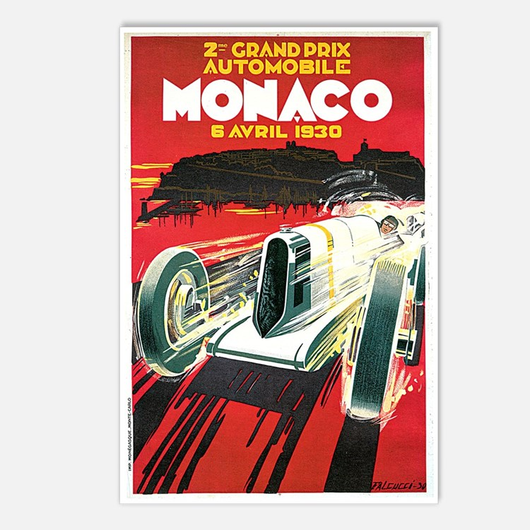 Vintage 1930 Monaco Auto Race Postcards (Package o