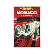 Vintage 1930 Monaco Auto Race Rectangle Magnet