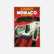 Vintage 1930 Monaco Auto Race Rectangle Magnet (10