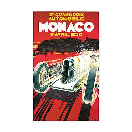 Vintage 1930 Monaco Auto Race Sticker (Rectangle)