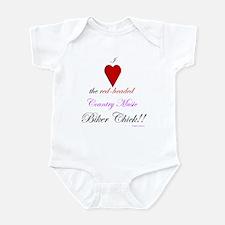 Heart The Biker Chick Infant Bodysuit