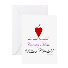 Heart The Biker Chick Greeting Card