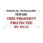 Radical Mooslims Beware: Banner