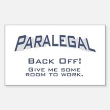 Paralegal / Back Off Decal