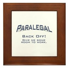 Paralegal / Back Off Framed Tile
