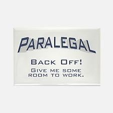 Paralegal / Back Off Rectangle Magnet