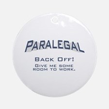 Paralegal / Back Off Ornament (Round)