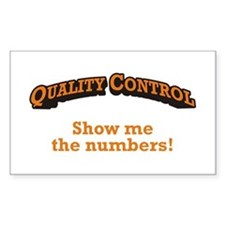 QC / Numbers Decal