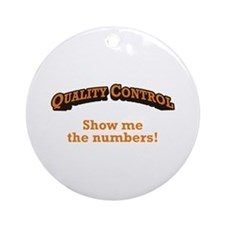 QC / Numbers Ornament (Round)