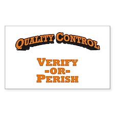 Quality Control / Verify Decal