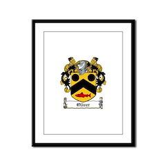 Oliver Coat of Arms Framed Panel Print
