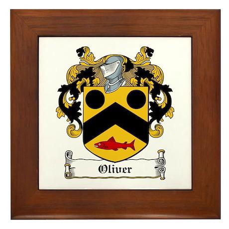 Oliver Coat of Arms Framed Tile