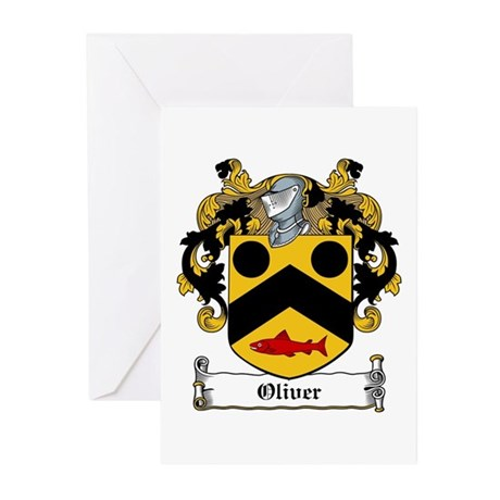 Oliver Coat of Arms Greeting Cards (Pk of 10)