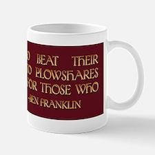 Ben Franklin on Swords and Pl Mug