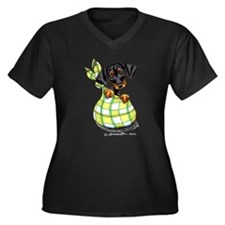 Doberman Pinscher Lover Women's Plus Size V-Neck D