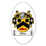 Oliver Coat of Arms Oval Sticker