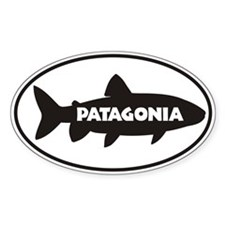 Patagonia Trout Window Sticker Sticker (oval)