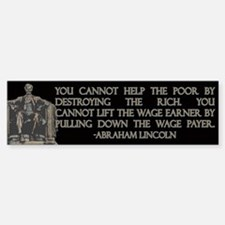 Lincoln on Rich and Poor Bumper Bumper Sticker