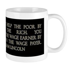 Lincoln on Rich and Poor Mug