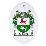 O'Leary Family Crest Oval Ornament