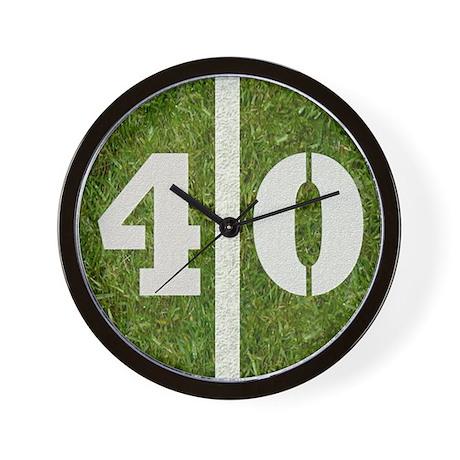 40 Yard Wall Clock