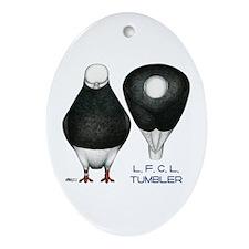 Tumbler Baldhead Pigeon Ornament (Oval)