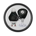 Tumbler Baldhead Pigeon Large Wall Clock