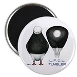 "Tumbler Baldhead Pigeon 2.25"" Magnet (100 pac"