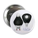 """Tumbler Baldhead Pigeon 2.25"""" Button (10 pack"""