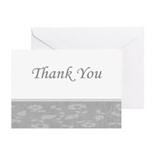 Thank You floral silver Greeting Card