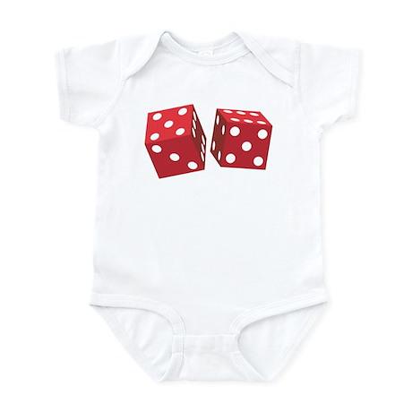 Retro Red Dice Infant Bodysuit