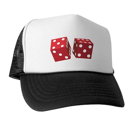 Retro Red Dice Trucker Hat