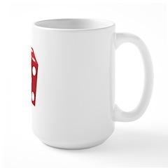 Retro Red Dice Large Mug