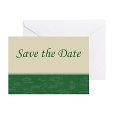 Save the Date floral green Greeting Card