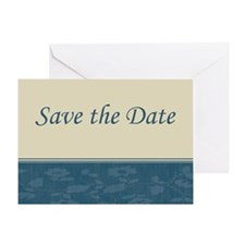 Save the Date floral blue Greeting Card