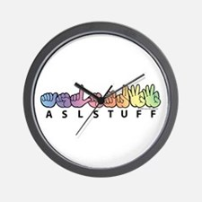 ASLstuff Logo Wall Clock