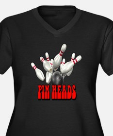 Pin Heads Women's Plus Size V-Neck Dark T-Shirt